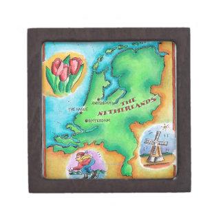 Map of the Netherlands Keepsake Box