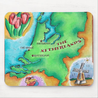 Map of the Netherlands Mouse Pad