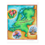 Map of the Netherlands Post Card
