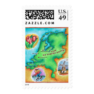 Map of the Netherlands Postage