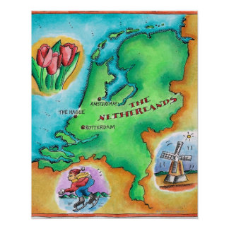 Map of the Netherlands Poster