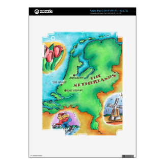 Map of the Netherlands iPad 3 Skins