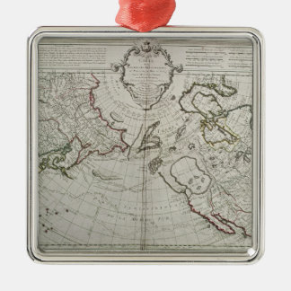 Map of the New Discoveries Christmas Tree Ornament