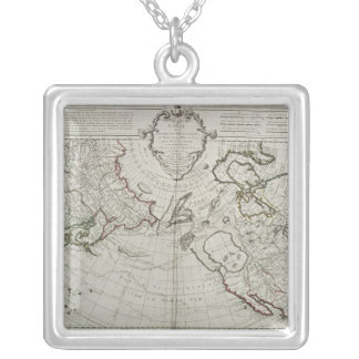 Map of the New Discoveries Silver Plated Necklace