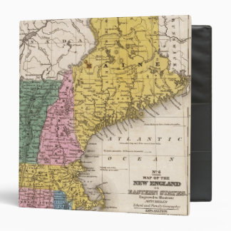 Map of the New England or Eastern States Binders
