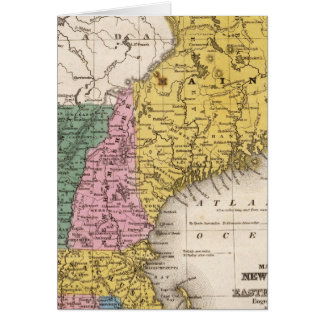 Map of the New England or Eastern States Cards