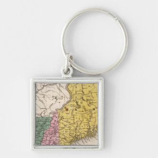 Map of the New England or Eastern States Keychain