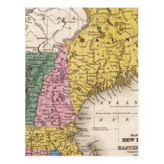 Map of the New England or Eastern States Post Card
