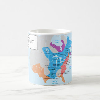 Map of the New-France in 1750 Coffee Mug