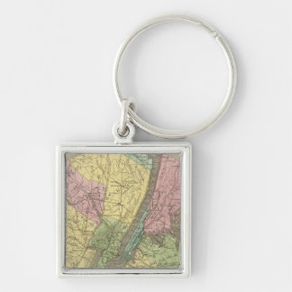 Map of the New York Key Chain