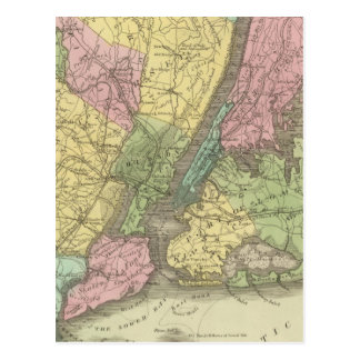 Map of the New York Postcard