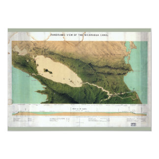 Map of the Nicaragua Canal (1870) Card