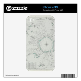 Map of the North Pole iPhone 4 Skins