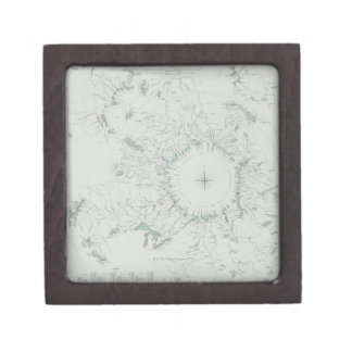 Map of the North Pole Jewelry Box