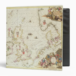 Map of the North Sea, c.1675 3 Ring Binders