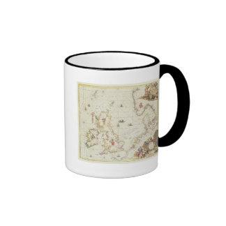 Map of the North Sea, c.1675 Ringer Coffee Mug