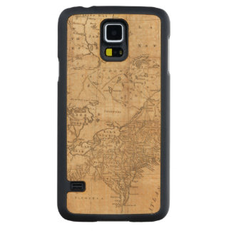 Map of the Northern and Middle States 2 Carved® Maple Galaxy S5 Case