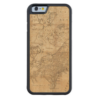 Map of the Northern and Middle States 2 Carved® Maple iPhone 6 Bumper