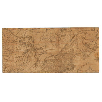 Map of the Northern and Middle States 2 Wood USB 2.0 Flash Drive