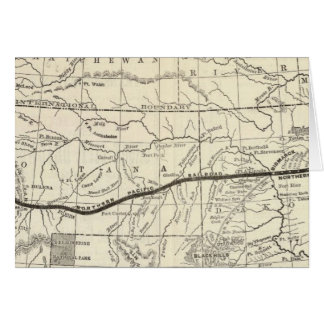 Map of the Northern Pacific Railroad Card
