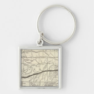 Map of the Northern Pacific Railroad Keychain