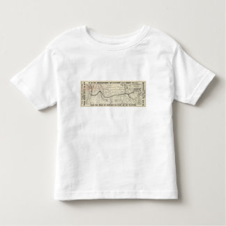 Map of the Northern Pacific Railroad Toddler T-shirt