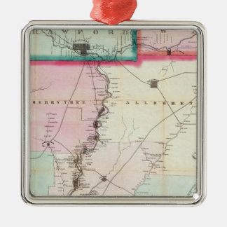 Map Of The Oil District Of Pennsylvania Metal Ornament