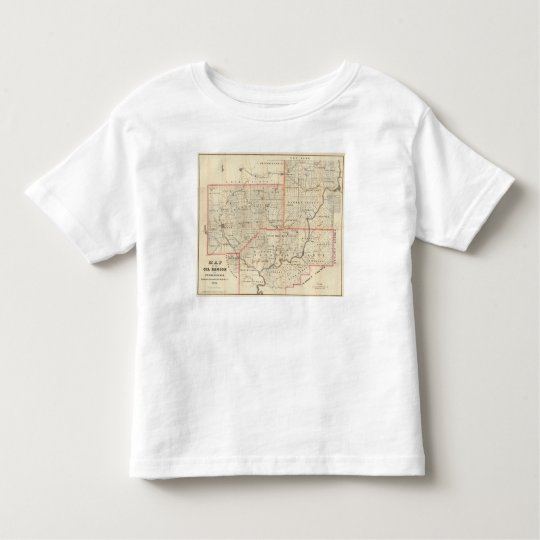 Map of the Oil Region of Pennsylvania Toddler T-shirt