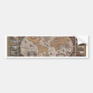 """Map of the """"Old World"""" Bumper Sticker"""