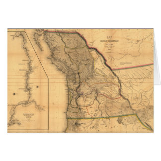 Map of the Oregon Territory (1844) Card