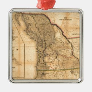 Map of the Oregon Territory (1844) Metal Ornament