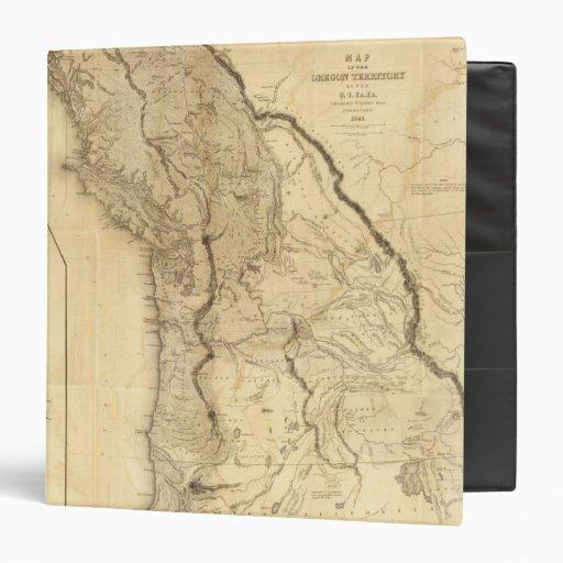 Map of the Oregon Territory 3 Ring Binders