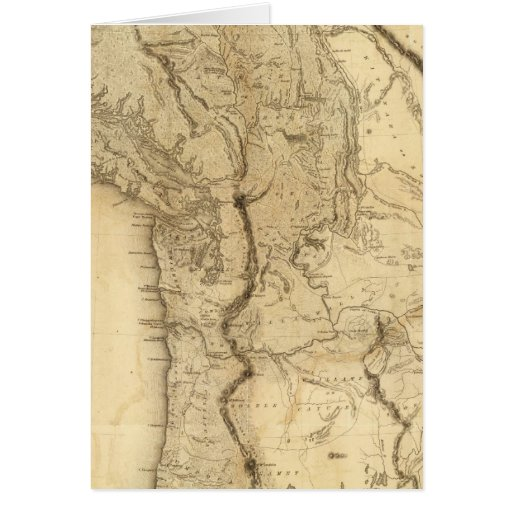 Map of the Oregon Territory Card