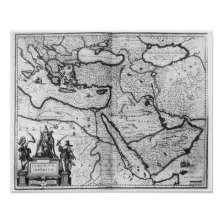 Map of the Ottoman Empire Poster