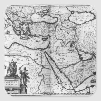 Map of the Ottoman Empire Square Sticker