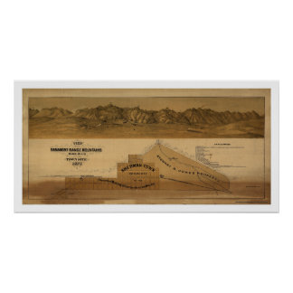 Map of the Panamint Range Mountains 1875 Print