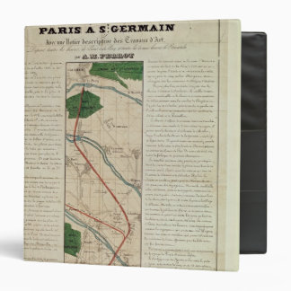 Map of the Paris to St. Germain Railway, by 3 Ring Binder