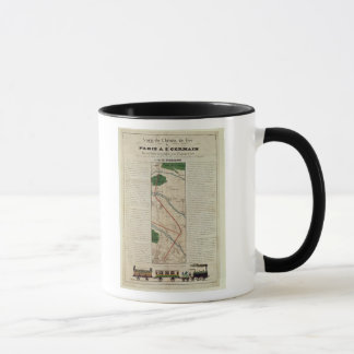 Map of the Paris to St. Germain Railway, by Mug