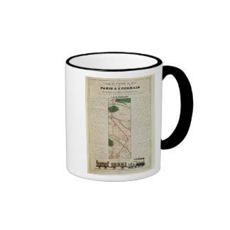 Map of the Paris to St. Germain Railway, by Coffee Mug