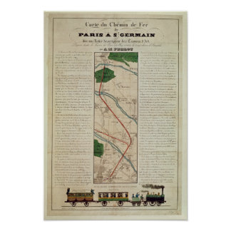 Map of the Paris to St. Germain Railway, by Poster