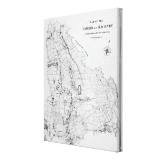 Map of the Parish of Hackney Canvas Print