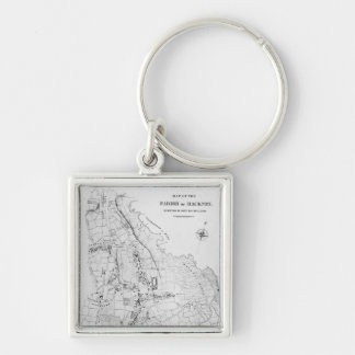 Map of the Parish of Hackney Keychain