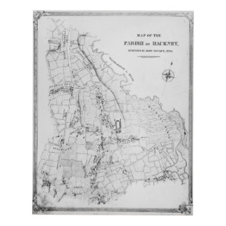 Map of the Parish of Hackney Panel Wall Art
