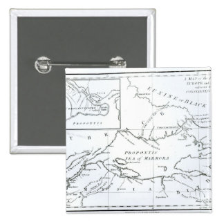 Map of the parts of Europe and Asia Pinback Button