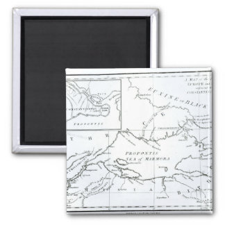 Map of the parts of Europe and Asia Fridge Magnet