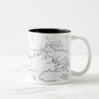 Map of the parts of Europe and Asia Coffee Mugs