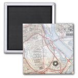 Map of the Pentagon Road System 2 Inch Square Magnet