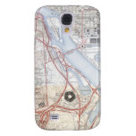 Map of the Pentagon Road System Galaxy S4 Cover