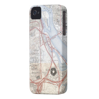 Map of The Pentagon Road System iPhone 4 Case-Mate Case