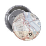 Map of the Pentagon Road System Pinback Button